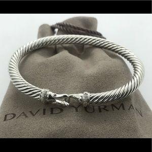 David Yurman 5mm Cable Buckle Bracelet & Diamonds